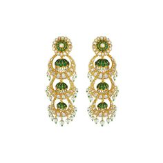 Design can be art. Design can be aesthetics. Design is so simple, that's why it's so complicated. Pearl Jewelry, Gold Jewelry, Fine Jewelry, Jewellery, Gold Pearl, Statement Earrings, Ear Rings, Pearls, Jaipur