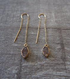 Druzy Threader Earrings