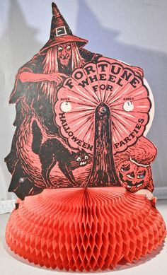 Vintage Fortune Wheel For Halloween Parties - Fortune Telling Witch. From eBay seller breren1818.
