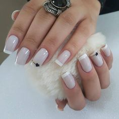 86 marvelous nail art designs 2019 page 00005 French Manicure Nails, Manicure And Pedicure, French Tip Nails, Best Acrylic Nails, Dream Nails, Elegant Nails, Trendy Nails, Toe Nails, Nails Inspiration