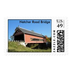 Netcher Rd Covered Bridge Ashtabula County Ohio... Postage