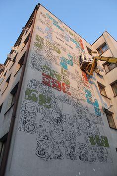 Mayamural /// Day 3- 8 dec 2012 - part 2 #streetart #graffiti #maya #krakow