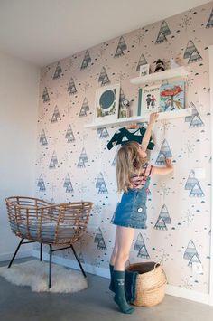 Kids Room, Photo Wall, Nursery, Wallpaper, Frame, Robin, Sleep, Interiors, Play