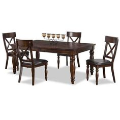 Exquisite Kingston 5 Piece Dining Set By Intercon Furniture. Beautiful Dark  Cherry Wood Finish Brings