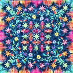 Tropical Flower ~ Quiltworx.com by Certified Instructor, Linda Tellesbo
