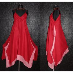 Long Red Floaty Fairy Empire Dress Plus Size 20 22 24 2x 3x Larp... ($40) ❤ liked on Polyvore