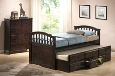 San Marino Storage Bed with Trundle in Dark Walnut by Acme Furniture
