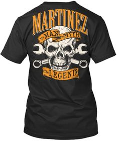 Marintez The Man The Myth The Legend Black T-Shirt Back Playeras Hombre ed77f759c62e2