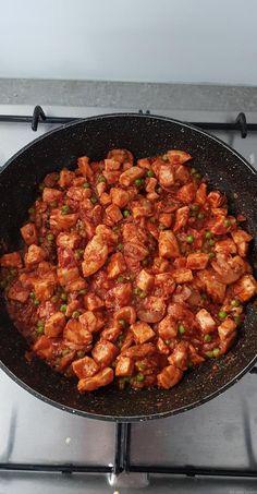 Tagliatelles au poulet façon stroganoff