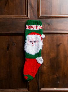 ***THIS IS A DIGITAL DOWNLOAD*** PLEASE READ BEFORE ORDERING Personalized Christmas Stocking Knitted Pattern: Santa Claus 2 Knit this adorable Santa Claus 2 Christmas stocking for your family or friends with this knitting pattern. The pattern includes 3 pages of detailed