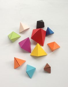 DIY: origami 'bipyramid' & what to do with them