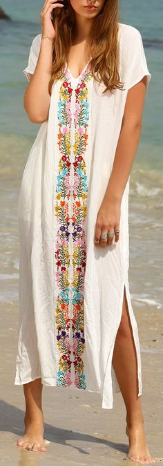 embroidered cover up