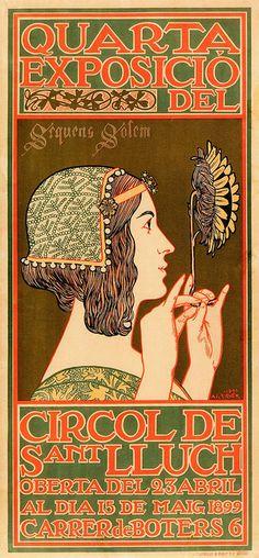 "Alexandre de Riquer ""Poster for the Fourth Exhibiton of the Cercle Artistic de Saint Lluch"""