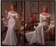 how to marry a millionaire wedding dress | Gorgeous dress on Bacall. From How to Marry a Millionaire. | My Style