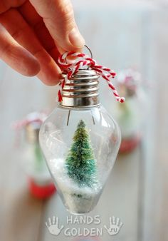 mini snow globe ornament DIY Mini Snow Globe Ornament ~ this would be such a blast to do with kids!DIY Mini Snow Globe Ornament ~ this would be such a blast to do with kids! Noel Christmas, Diy Christmas Ornaments, Winter Christmas, Christmas Lights, Ornaments Ideas, Lightbulb Ornaments, Rustic Christmas, Christmas Christmas, Christmas Music
