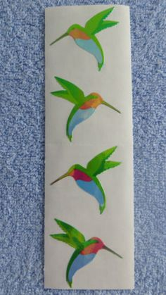 1-Strip-of-Mrs-Grossmans-OPAL-HUMMINGBIRD-Stickers