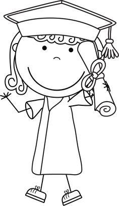 Graduation Cartoon, Graduation Clip Art, Kindergarten Graduation, Graduation Cards, Sunday School Coloring Pages, Doodle Coloring, Spring Art, Cute Doodles, Stick Figures