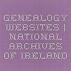 Genealogy websites | National Archives of Ireland