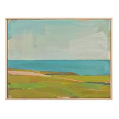 """Pt Reyes Towards Pierce Pt by Karen Smidth It's a theme today - soft bright green an blue Landscape Art, Landscape Paintings, Landscapes, Painting Inspiration, Art Inspo, Water Art, Seascape Paintings, People Art, New Art"