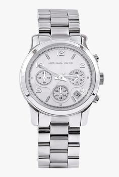 Silver Chronograph Watch By Michael Kors