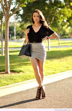 Hapa Time lovely gray skirt design