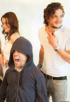 Game of Thrones- all of their faces haha! wonder what they were doing that made this happen?
