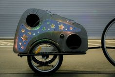 Solar Powered Disco Bike Trailer #burningman