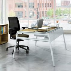 Now available at Smart Furniture: the Bivi Table with Back Pocket by Turnstone. Modern workplace, meet the Bivi modular desking system. Office Furniture Online, Smart Furniture, Modern Furniture, Home Furniture, Home Office Lighting, Corporate Interiors, Work From Home Moms, Modern Design, Interior Design