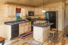 Beaded Pine Kitchen in Frontier