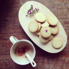 Coconut and Cinnamon shortbread cookies