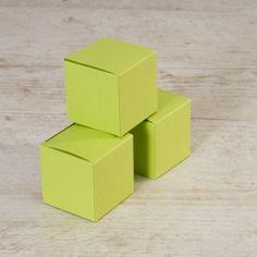 Blanco limoengroene kubus met plat deksel | Tadaaz