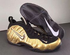 92bb0aa82fa NIKE AIR FOAMPOSITE PRO METALLIC GOLD BLACK 624041 701  nike   nikeairfoamposite  nikefoamposite  nikebasketball  nikefashionshoes   sneaker  forsale ...