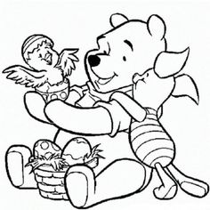 disney easter coloring pages to print Free Easter Coloring Pages, Easter Colouring, Disney Coloring Pages, Coloring Pages To Print, Coloring For Kids, Colouring Pages, Coloring Sheets, Adult Coloring, Coloring Books