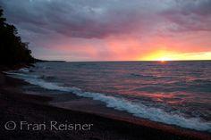 Sunset near Eagle Harbor, Michigan's Upper Peninsula