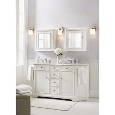 Home Decorators Collection Belvedere 72 in. W x 22 in. D x 34 in. H Vanity in White with Granite Vanity Top in Grey with White Basin 8403200410 at The Home Depot - Mobile