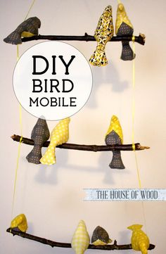 SO CUTE! Love this DIY bird mobile and she tells you how to make one! #diy #mobile #nursery