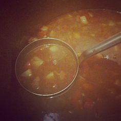 Passend zur #jahreszeit : #gulaschsuppe zum #einheizen #team sagt: #lecker #mittagessen #gulaschkanone :-) #Danke #torsten !