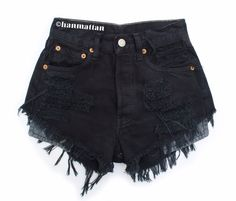 Black shorts high waisted