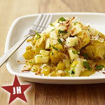 Weight Watchers' Hawaiian Curried Chicken with Pineapple Salsa - 5 Points+ per serving.