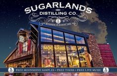 Make your Gatlinburg getaway shine with free music, free samples and free tours! You can enjoy them at all Sugarlands Shine Distillery. Tennessee Cabins, Gatlinburg Tennessee, Tennessee Vacation, Vacation Destinations, Vacation Spots, Vacation Memories, Smokey Mountain Cabins, Gatlinburg Vacation, Mountain Vacations