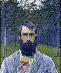 Hipsters in History: Cuno Amiet (1868-1961) - Selfportrait with apple