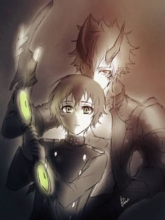 Yoichi Saotome & Gekkoin by [@r1kuuw] - Owari no Seraph