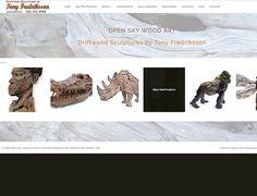 DYNAMIC WEBSITE DESIGN >> Open Sky Wood Art Driftwood Sculptures by Artist Tony Fredriksson - Website created by Design so Fine