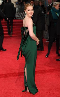 Amy Adams from 2017 BAFTA Film Awards: Red Carpet Arrivals  The Arrival star looks gorgeous in green.