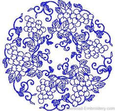 chinese embroidery patterns | Pattern 10 - Floral Patterns - Floral Motifs - Embroidery Designs ...