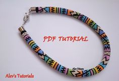 Colored Lines - Crochet Bead Necklace Pattern - Crochet Bead Necklace Tutorial - Necklace Tutorial by AlevsTutorials on Etsy