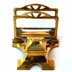 French bronze champleve inkwell