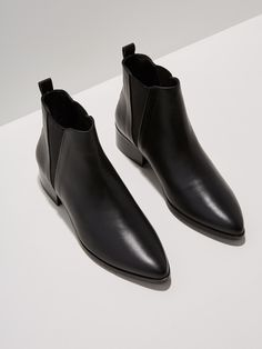 Slip into style with this classic shape, refashioned for modern style and boundless wearability. Italian leather upper Leather lining and insole Non-slip rubber outsole Crafted in Portugal's oldest footwear factory (est. Shoe Closet, Shoe Bag, Palace, Black Chelsea Boots, Old Shoes, Black 7, Color Black, Italian Leather, Bootie Boots