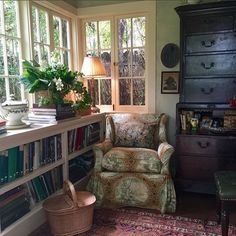 Love this library/study/den via stampsandstamps