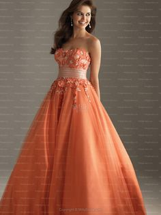 orange+pageant+dresses | > Special Occasion Dresses > Prom Dresses >Empire Strapless Orange ...